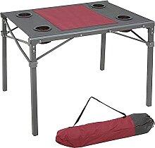 ZHZHUANG Table de Camping Pliante En Aluminium