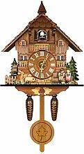 Ziao Horloge coucou en bois de la Forêt Noire -