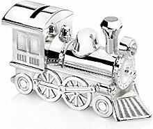 Zilverstad 6752261 Tirelire Locomotive Argenté