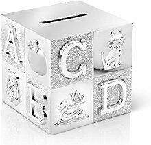 Zilverstad A6016260 Tirelire Cube Grand ABC