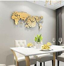 Ziruixiong 70 * 34 Cm 3D Carte du Monde Horloge