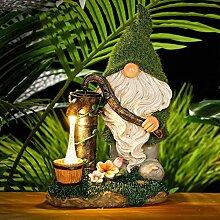 ZJING Figurines De Décoration De Jardin, Lampe