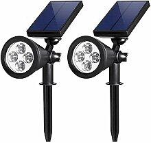 ZJING Lampe Solaire Extérieur 4LED Lampes