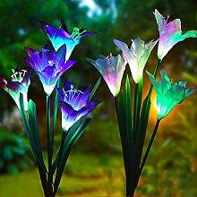 ZJING Lampe Solaire Extérieur Au Sol, 4 Pcs Lampe
