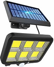 ZJING Lampe Solaire Exterieur, Projecteur Solaire