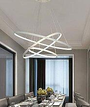 ZJJZ LED Rond Moderne Lustre 3 Anneaux Chambre