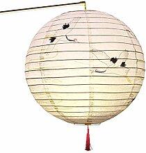 ZJL220 30cm Rond Papier Lanterne Abat-Jour Style