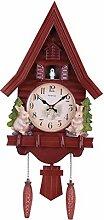 ZJWD Horloge À Coucou Mode Salon Horloge Murale