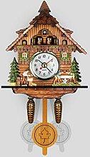ZJWD Mini Horloge À Coucou, Horloge De Chalet
