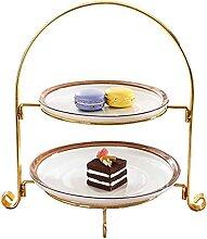 ZJXGW Cupcake Dessert Stand 2 Tier Pâtisserie