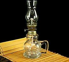 ZLLOO Lampe à Huile Lampe à pétrole de Style