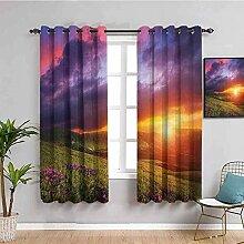 ZLYYH rideau chambre enfants Coucher de soleil
