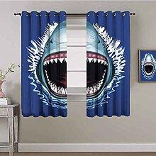ZLYYH Rideau Salon moderne Occultant Bleu requin
