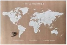 ZODIO Grande carte du monde en liège 60x90cm