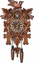 Zoloyo Horloge murale en bois avec coucou en forme