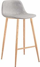 ZONS - EASY TO CLEAN TABOURET BAR LOOK TISSUS