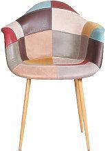 Zons - Fauteuil Oraz patchwork rouge - Terracotta