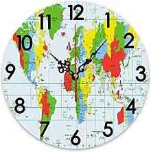 ZORMIEY Horloge Murale Ronde à Piles éduquer Les