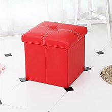 ZOYAFA Tabouret bas moderne en cuir avec boîte de