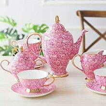 ZQJKL Service à Café Fine Porcelaine