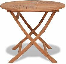 Zqyrlar - Table pliable de jardin 85x76 cm Bois de