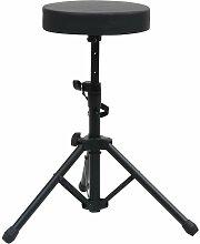 Zqyrlar - Tabouret à tambour réglable Noir Rond