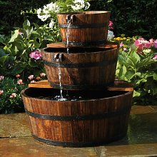 Zqyrlar - Ubbink Fontaine de jardin 3 Tonneaux en