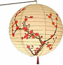 zrshygs 30cm Rond Papier Lanterne Abat-Jour Style