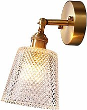 ZSAIMD Lampe de mur moderne boule de verre de