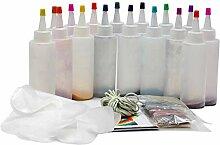ZSLGOGO Kit Tie Dye, Kit Tie-Dye Tissu Textile