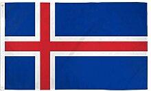 Zudrold 3x5 Drapeau de l'Islande bannière de