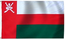 Zudrold 3x5 Drapeau Oman bannière sultanat Fanion