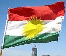 Zudrold 3x5 Pieds Drapeau du Kurdistan Bannière