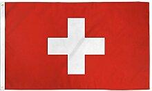 Zudrold 3x5 Pieds Drapeau Suisse Bannière Suisse