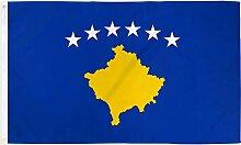 Zudrold 3x5feet Kosovo Flag Country Banner Fanion