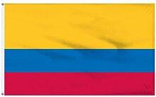 Zudrold B&Y 3x5 Drapeau colombien bannière Pays