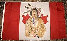 Zudrold Drapeau Indien Canadien Canada bannière