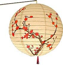Zunor 30 cm Rond Papier Lanterne Abat-Jour Style