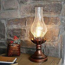 Zuoao Lampe de Table rétro Lampe à pétrole à