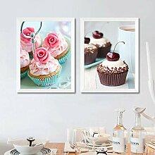 zuomo Dessert Art Toile Peinture Impression Mignon