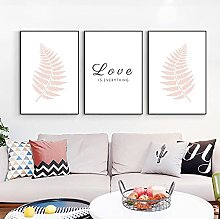 zuomo Love is Everything Wall Art Fougère Blush