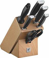 ZWILLING Bloc de Couteaux (7 pièces), Bloc en
