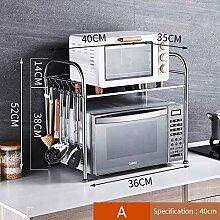 ZXCC INOX Four Micro-Onde étagère De Cuisine,