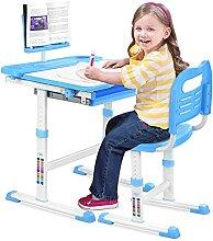 ZXIN Set Bureau et Chaise Enfant Hauteur Réglable