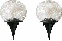 ZXVC Lampes solaires de jardin - En verre