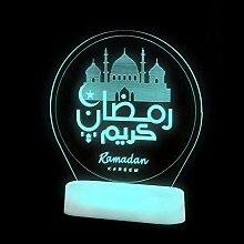 ZYANUGR Veilleuse Eid Mubarak, Ramadan LED Mubarak
