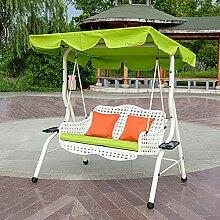 ZYFWBDZ Chaise pivotante de Patio à 2 Places,