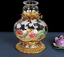 ZYJTGH Buddha Grande Capacité Lampe À Huile