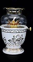 ZYJTGH Buddha Kérosène Lampe Blanche Coupe-Vent
