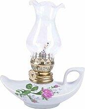 ZYJTGH Buddha Lampe À Huile en Céramique Lampe